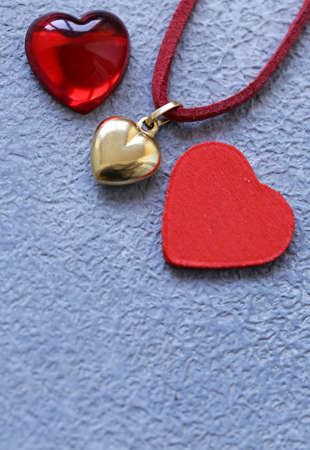 gold heart pendant gift for Valentine's Day