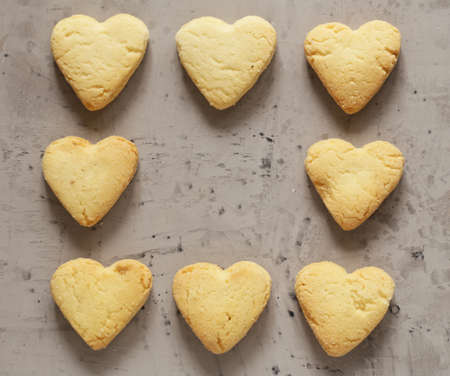 heart shaped biscuit cookies for valentines day Stock Photo
