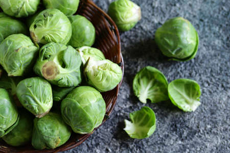 organic brussels sprouts for healthy food Banque d'images - 118459855