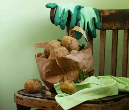 Organic Farm Potatoes for Healthy Eating Banque d'images - 118459857