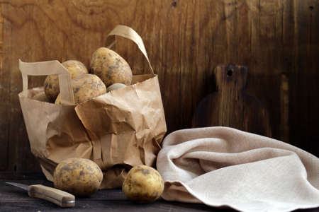 Organic Farm Potatoes for Healthy Eating Banque d'images - 118459922