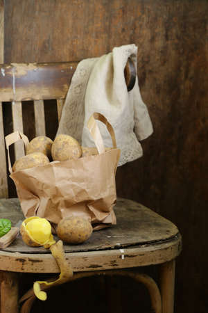 Organic Farm Potatoes for Healthy Eating Banque d'images - 118459923