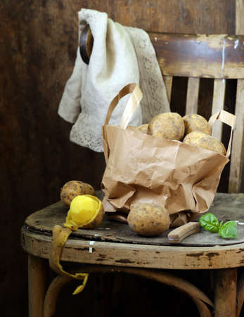 Organic Farm Potatoes for Healthy Eating Banque d'images - 118459924