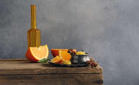 Homemade orange jam confiture for dessert Banque d'images - 118565436