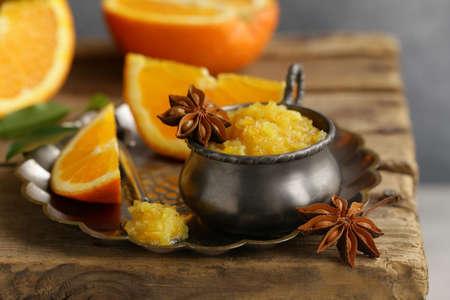 Homemade orange jam confiture for dessert Banque d'images - 118565437