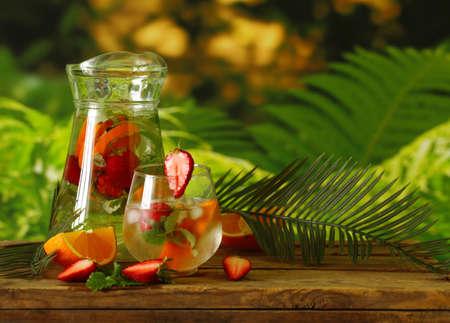 homemade citrus lemonade in a jug