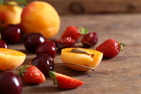 berries assortment of antioxidants and vitamins for a healthy diet Stock Photo