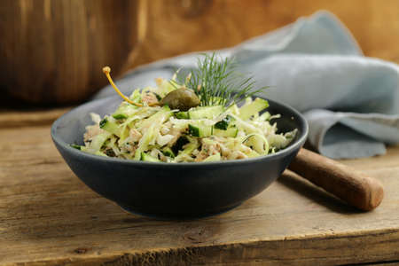 cod liver salad for healthy eating Zdjęcie Seryjne