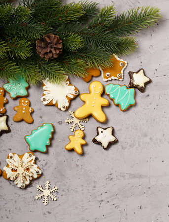 gingerbread cookies christmas decoration for the holiday