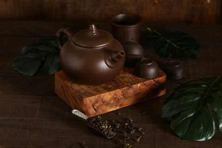 tea set for the ceremony green tea