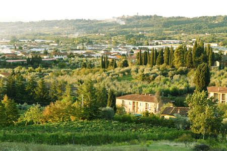 Italian landscapes, architecture and gardens beautiful views 写真素材