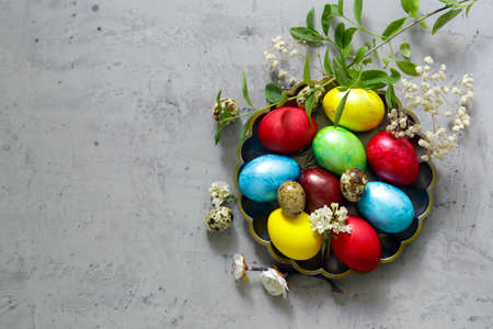 traditional easter decorative eggs for the holiday Stock Photo - 138045775