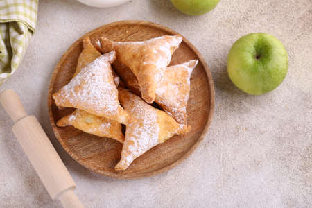 puff pastry with apple from puff pastry