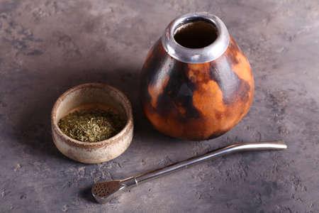 tea bombas and calabas and tea mate