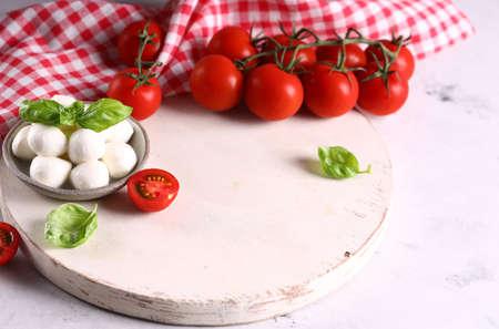 baby mozzarella cheese for salad Stock Photo