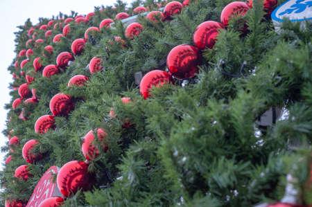 Artificial Christmas tree Banco de Imagens