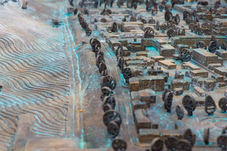 Close up : Three Dimensional Old Street map.