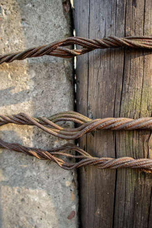 twisted rusty wire