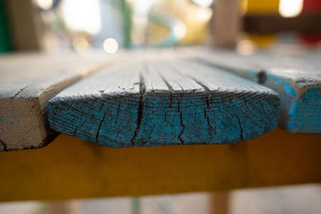 Blue wooden board texture wood Banco de Imagens