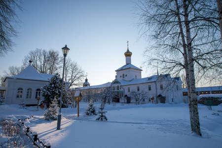 Tolgskij convent courtyard in winter.