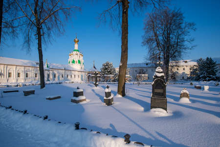 Tolgskij convent courtyard in winter.