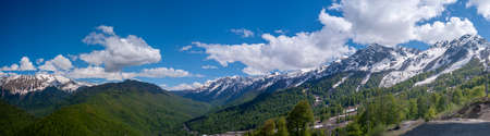 Panorama of the Caucasus Mountains