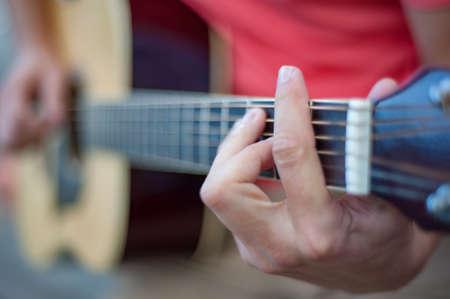Man playing guitar , close up Reklamní fotografie