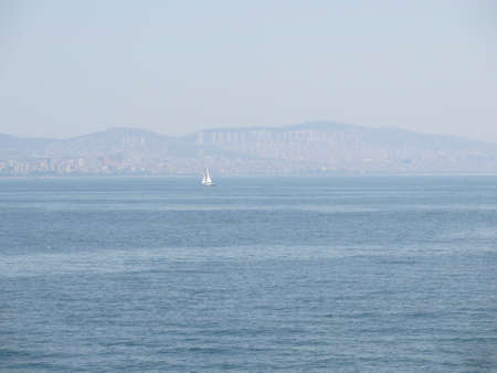 ocean and blue sea in istanbul with mountains in the background marmara sea