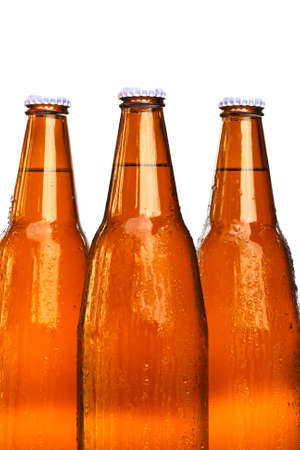 bottles of beer on white background Stock Photo - 12685997