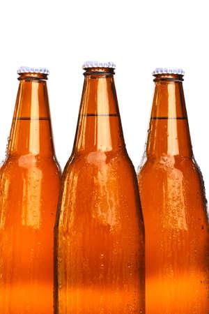 bottles of beer on white background Stock Photo - 12685997