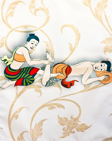 thai painting: The way massages of a Thai