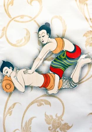 masaje: La forma massags de un tailand�s Foto de archivo