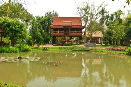house of the central region in Thailand
