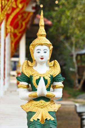 beliefs: Goddess statue in the temple;according to the beliefs of Thailand