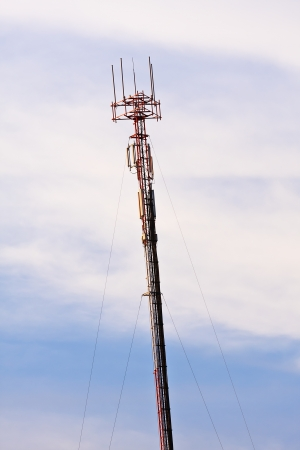 Telecommunication antenna services to mobile phone users  photo