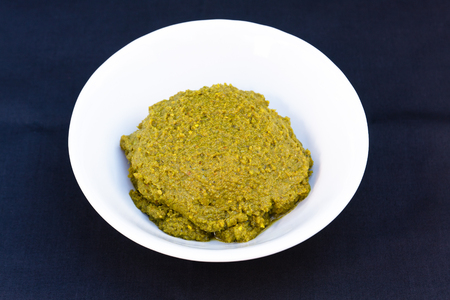 Green curry paste for cooking with meat such as chicken,pork,fish etc. 版權商用圖片