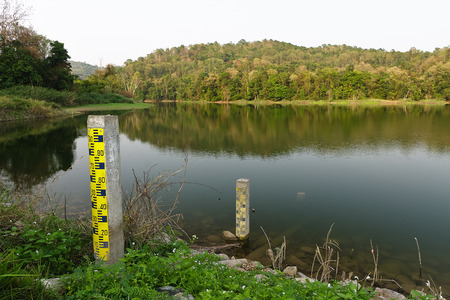 Huai Fang Reservoir.The condition of the Huai Fang reservoir in the summer,which is located in Phayao Province ,Northern Thailand.