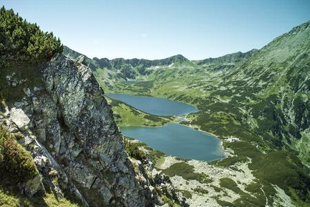 Polish mountains valley of five lakes. National Park in Zakopane. Stock Photo