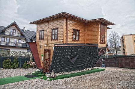 Attraction Upside Down House in Zakopane.