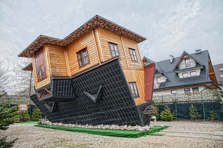Attraction Upside Down House in Zakopane.