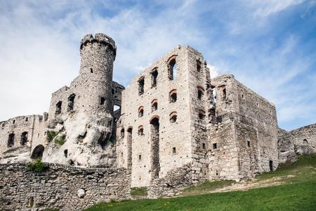 Ogrodzieniec, Podzamcze  Poland - May 5, 2018: Ogrodzieniec Castle in the village Podzamcze. Ruins of the castle on the upland, Jura Krakowsko-Czestochowska. The Trail of the Eagles Nests.Ogrodzieniec, Podzamcze  Poland - May 5, 2018: Ogrodzieniec Cast
