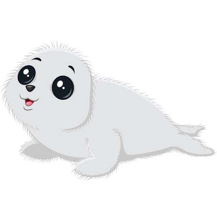 baby seal: Illustration of cartoon baby seal