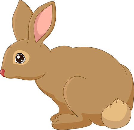brown hare: cartoon brown bunny