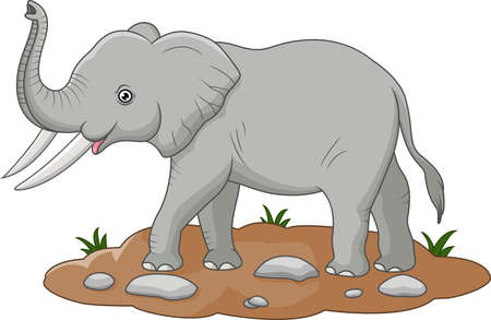 illustration of Cute elephant cartoon