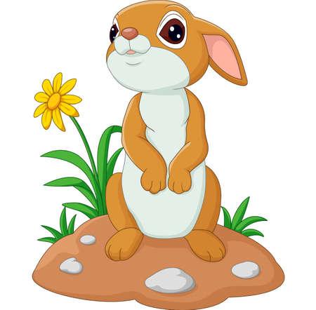 illustration of Cute cartoon rabbit