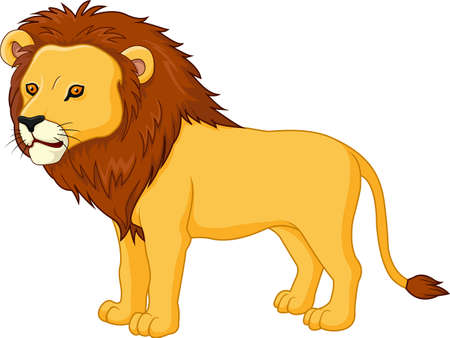 panthera: illustration of Cute lion cartoon