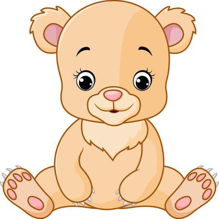 baby bear: illustration of Cute baby bear cartoon