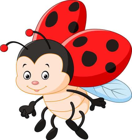 illustration of Cartoon ladybug waving