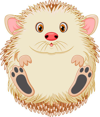 illustration of Cute baby hedgehog