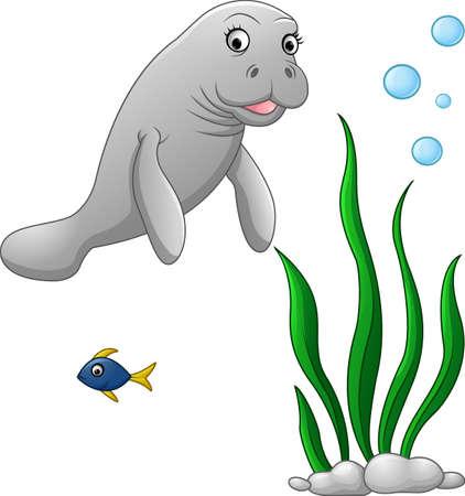walrus: illustration of Cute walrus cartoon Illustration